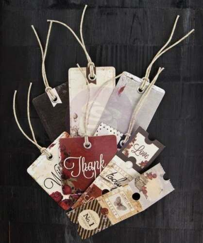 Prima Stationer/'s Desk 12 Tags 12 Tickets 573256  24 pcs Thank you Love Tags