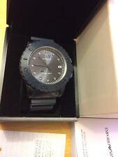 New Emporio Armani Men's Sportivo Blue Dial Resin Silicone Strap Watch AR6083
