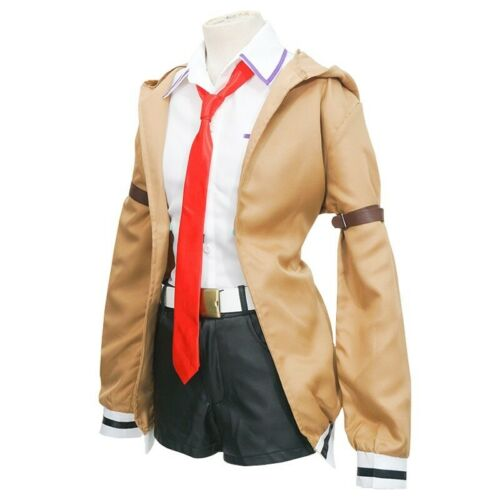 Japanese Anime Steins Gate Cosplay Makise Kurisu Full set​ Uniform Cosplay Suits