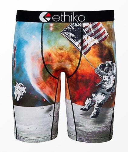 Ethika Staple American Astronaut US Flag News Reel Long Boxer Briefs Men/'s NWT