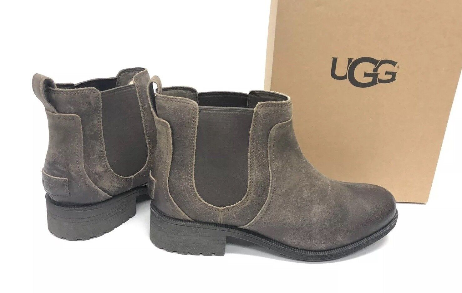 854a5e44295 NWB UGG Australia Bonham II Water Resistant Leather BOOTS in Dove Size 10