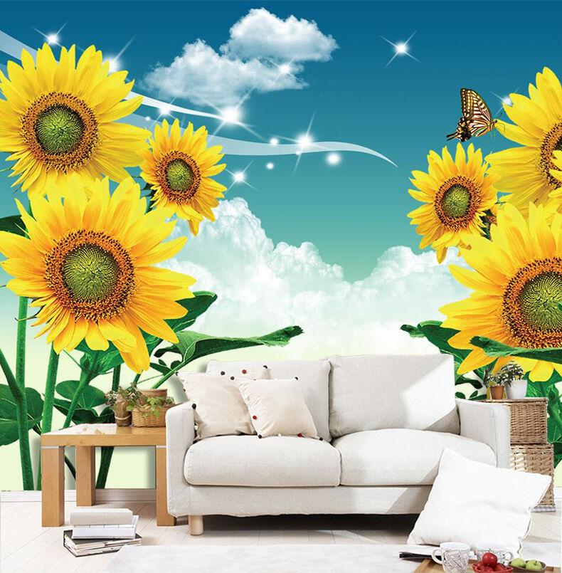 3D Schöne SonnenBlaume 35 Fototapeten Wandbild Fototapete BildTapete Familie