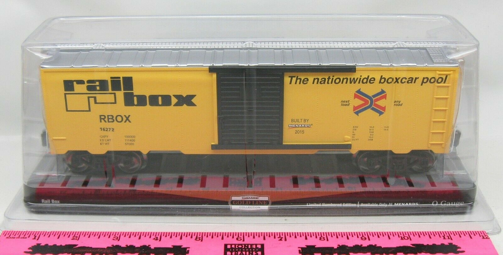 Menards Box O Gauge Boxcar Rail nfyttl4578-Freight Cars