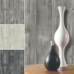 Wood Effect Wallpaper Distressed Grains Planks Boards Paste The Wall