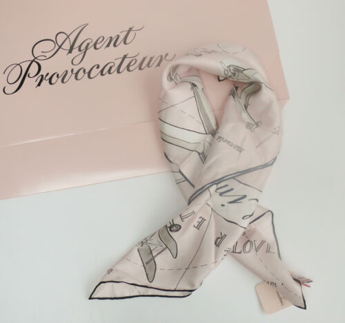 Aviation Agent Provocateur Bnwt £ Arlene Sciarpa Edition Limited Silk Rrp 175 Pink n0wvmNO8