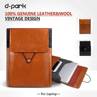"""dpark Vintage Envelope Woolen&Leather Bag Sleeve Case For Macbook Air 11"""" 11.6"""""""