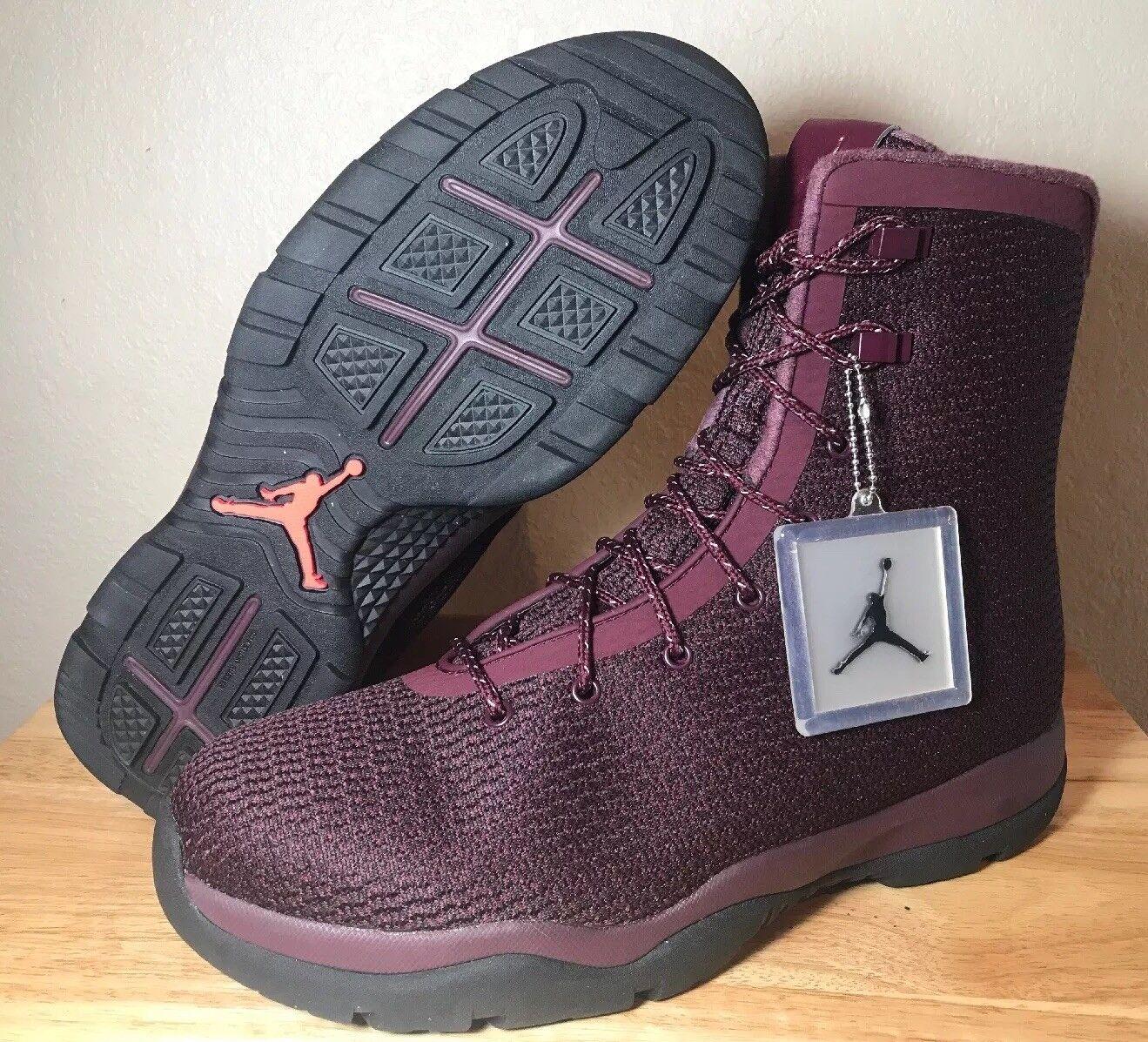 c8f934d5598a Nike Air Jordan Future Future Future Boots Size 12 Maroon Burgundy Black  Boots Mens 854554-