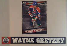 """Wayne Gretzky FATHEAD Official Player Mural 21.5""""x16"""" +Name Banner 41"""" Oilers"""