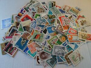 Collection lot 200 different large stamps of old East Germany
