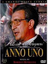 Anno uno. Alcide De Gasperi (1974) DVD Sigillato
