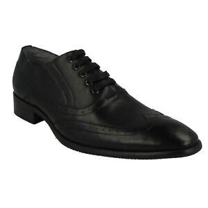 A2r129 Smart Malvern Style Cuir Richelieu Chaussures Lacets À Hommes qZqS47