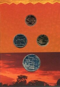 South-Africa-1999-Uncirculated-Coin-set-with-R1-Mine-Silver-Coin-from-Norway