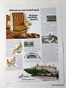 Larson  Boats   Magazine 1972  Print Ads  8 x 11