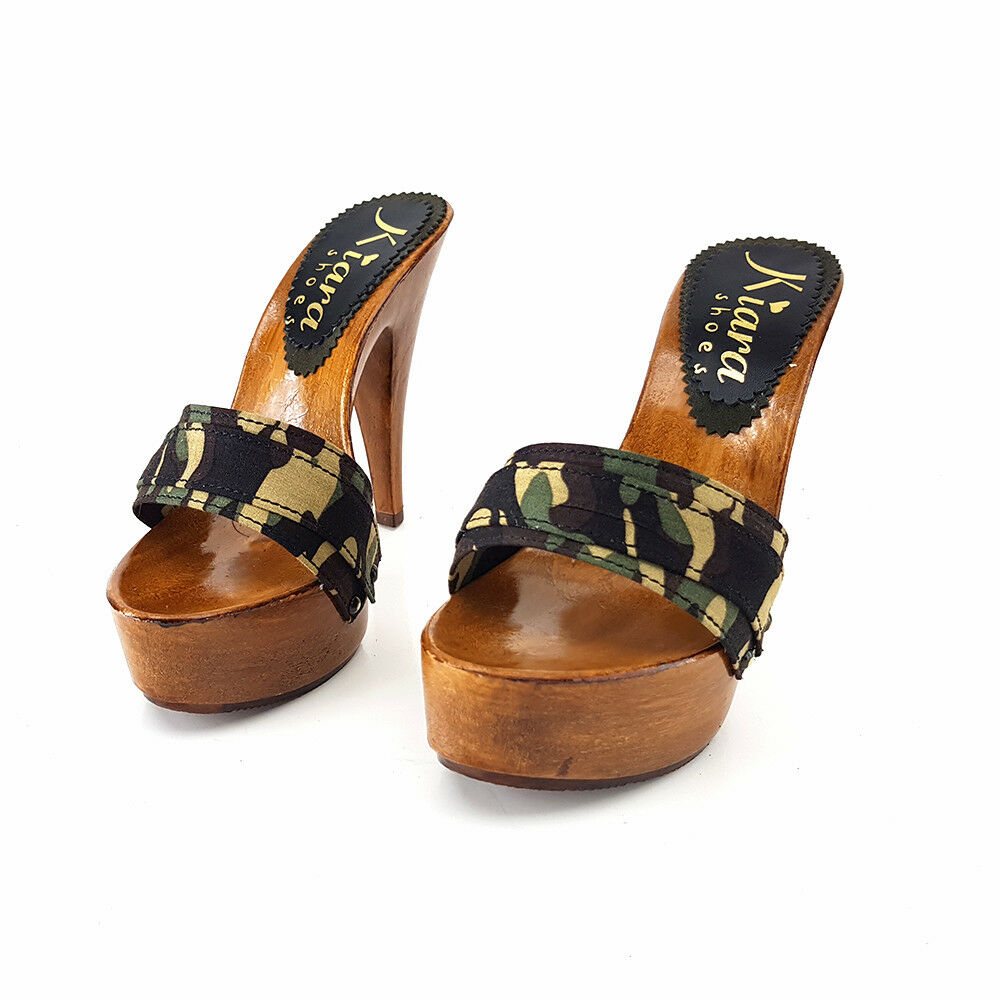 Clogs CAMOUFLAGE - Made in  35 35 35 al 42 - Heel 13-K9101 CAM 2018 30b7cd
