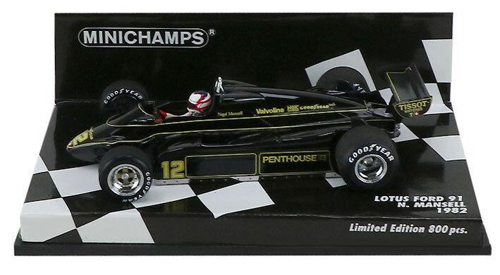 Minichamps Lotus Ford 91 1982 Nigel Mansell escala 1 43