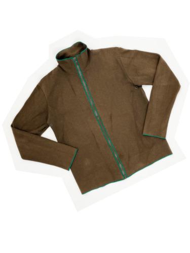 MIU MIU F/W 1999 Brown Zip Top SIZE MEDIUM Green V