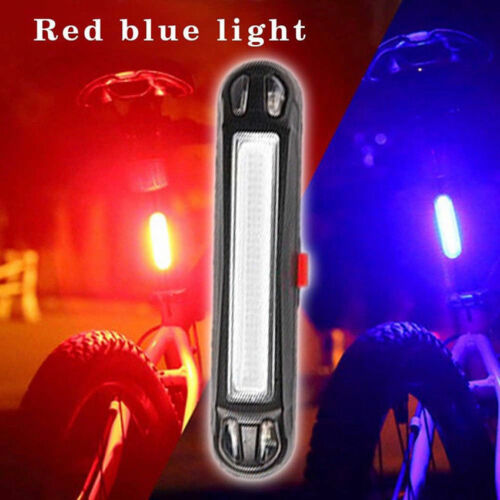 COB LED Bicycle Bike Cycling Front Rear Tail Light USB Rechargeable