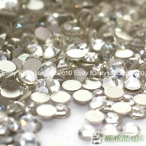 1440pcs-Clear-Top-Quality-Czech-Crystal-Flatback-Rhinestones-Nail-Art-No-Hotfix