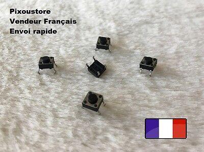 Lot au choix. Mini bouton poussoir interrupteur CI de 6x6x5 mm neufs