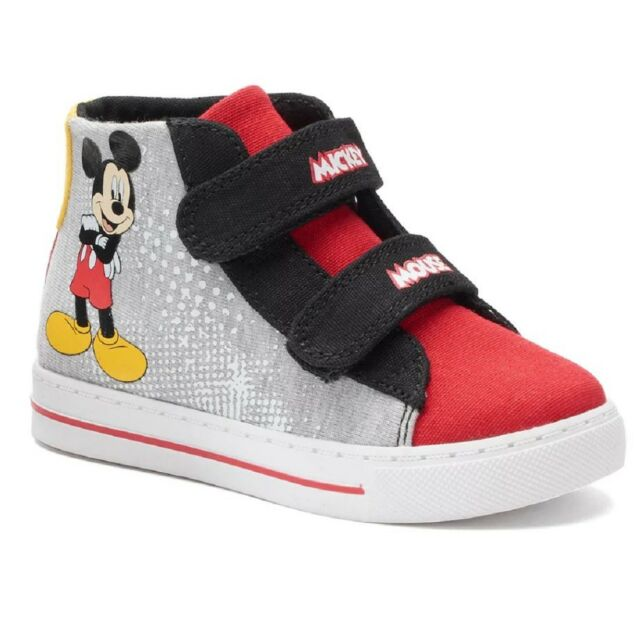 Kids Boys Disney Mickey Mouse Gray Red