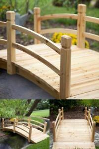 Image Is Loading Wooden Garden Bridge Yard Out Door Side Decor