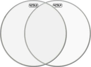 16-034-Spike-Two-Seven-Spike-One-Ten-Schlagzeugfelle-Drumheads-Set-Clear-fuer-Toms