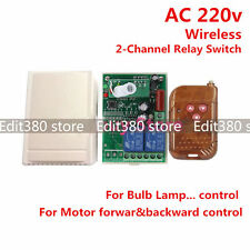 2CH AC 220v 10A relais drahtlos Fernbedienung Schalter RF Remote Control Switch