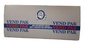 1990 1991 O-PEE-CHEE OPC 90 91 HOCKEY FACTORY VENDING BOX 500 CARDS NHL GRETZKY