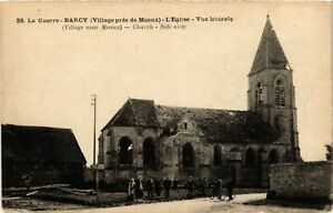 Cpa Militaire - Barcy - L'eglise - Vue Laterale - Ruines (697941) Fe4mfymz-07215450-381821540