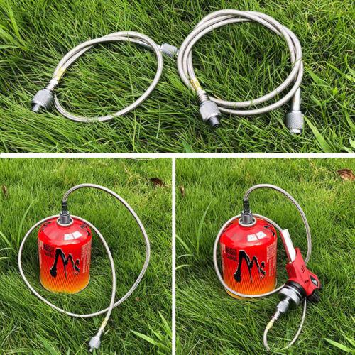 Einstellbare Gasherd Schlauch Gasschlauch Campingkocher Verbindung Adapter für