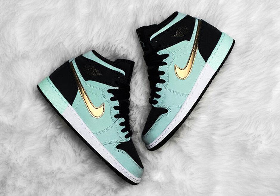 Nike Air Jordan 1 Retro High OG MINT Metallic Gold Black White Dunk sz 9 Shoes