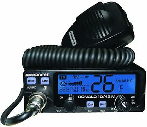 President-Ronald-10-Meter-Amateur-Ham-Radio-Transceiver-AM-FM-PA-12v-7-Color-LCD