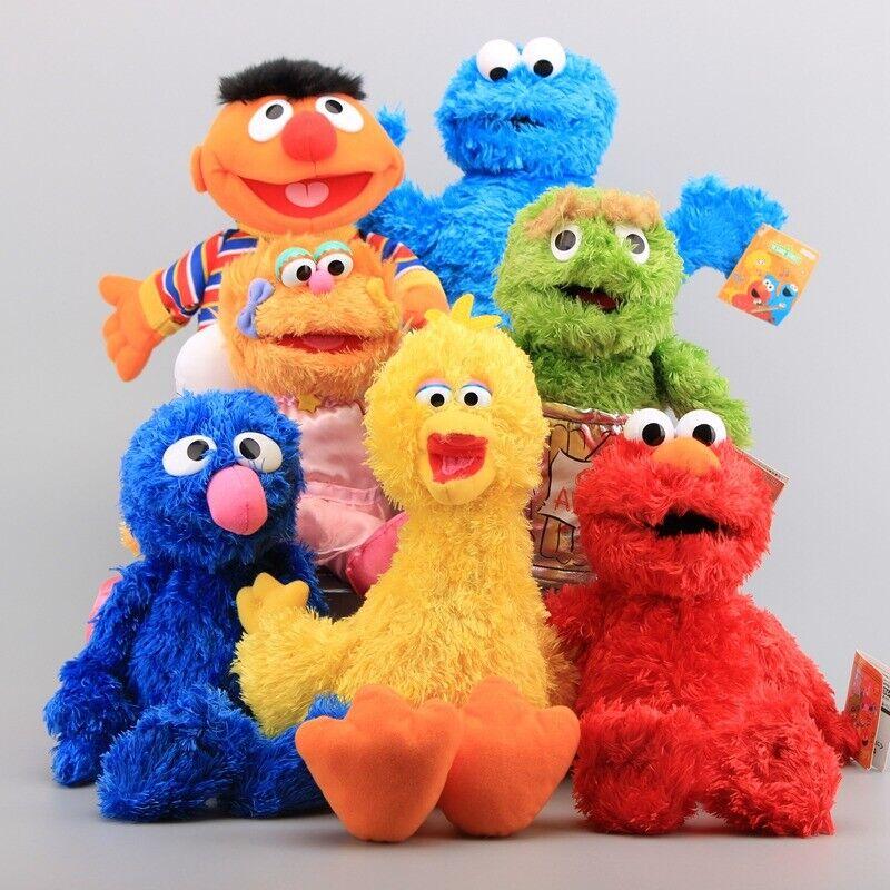 7pcs Sesame Street Plush Elmo Zoe Ernie Cookie Cookie Bird Christmas leksak