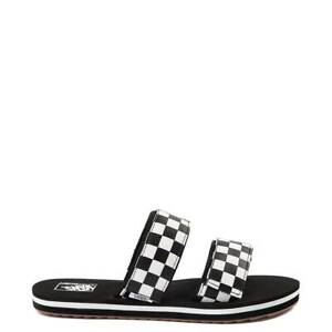 6cdd93e3bef Image is loading Vans-Cayucas-Chex-Slide-Sandal-Black-White-Marshmallow-
