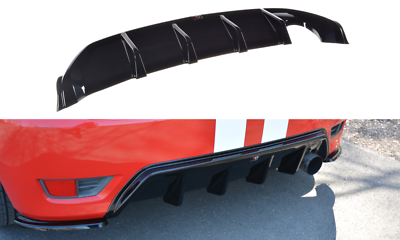 CARBON LOOK FORD FIESTA 6 ST // ZETEC S 2004-2008 FRONT DIFFUSER