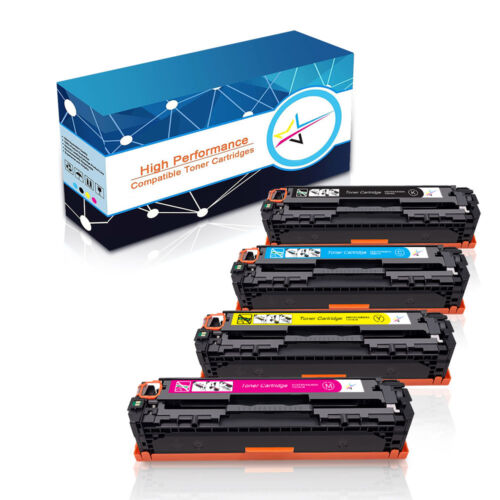 4 Toner Cartridges For HP Laserjet CF210A 131A Pro 200 Color MFP M276nw M251nw