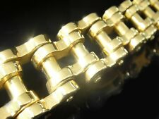 "9"" 200 Gram Gold HEAVY Classic Chain Bracelet for Harley Davidson Amazon Biker"