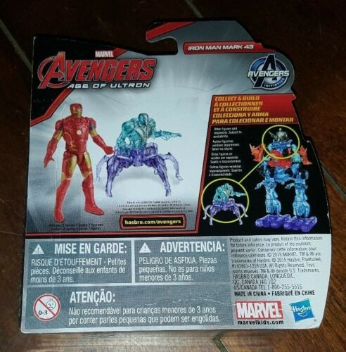 Avengers Age of Ultron Action Figure SUB-ULTRON 001 IRON MAN MARK 43 vs