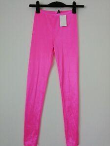 H M Neon Pink Leggings Uk Size 8 Eur 34 Ebay
