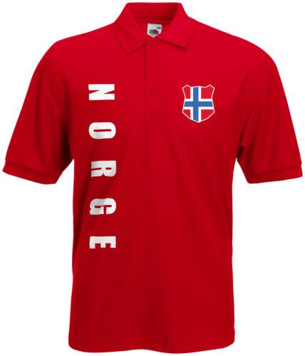 WM 2018 Norwegen NORGE Polo-Shirt Trikot Name Nummer