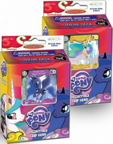 My Little Pony Collectible Card GameCanterlot  Nights Luna /& CelestiaTheme Decks