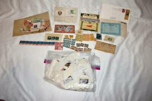 Large-Assortment-of-mostly-US-and-some-Foreign-Uncancelled-and-Cancelled-Stamps