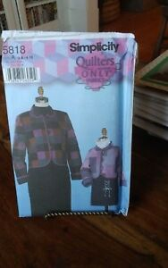 Oop-Simplicity-Quilters-5818-mother-daughter-quilted-jackets-sizes-4-18-3-8-NEW