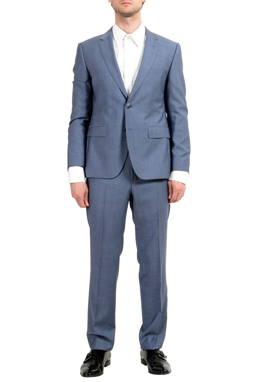 Hugo Boss  C-Jeys1 C-Shaft1  men 100% Lana blue Vestito Due Bottoni