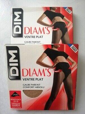 Lot de 2 Femme Dim Sublim Ventre Plat Collants