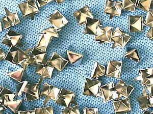 50-x-Pyramid-Clothing-studs-silver-colour-8mm-STUD-001