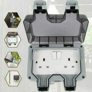 Outdoor 2 Gang 13 A Double Socket Storm Imperméable Switched Socket IP66 UK Plug