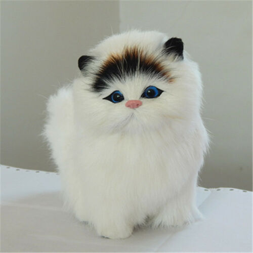Cute Cat Plush Toy Simulation Lifelike Animal Models Kitten Doll For Kids Gift