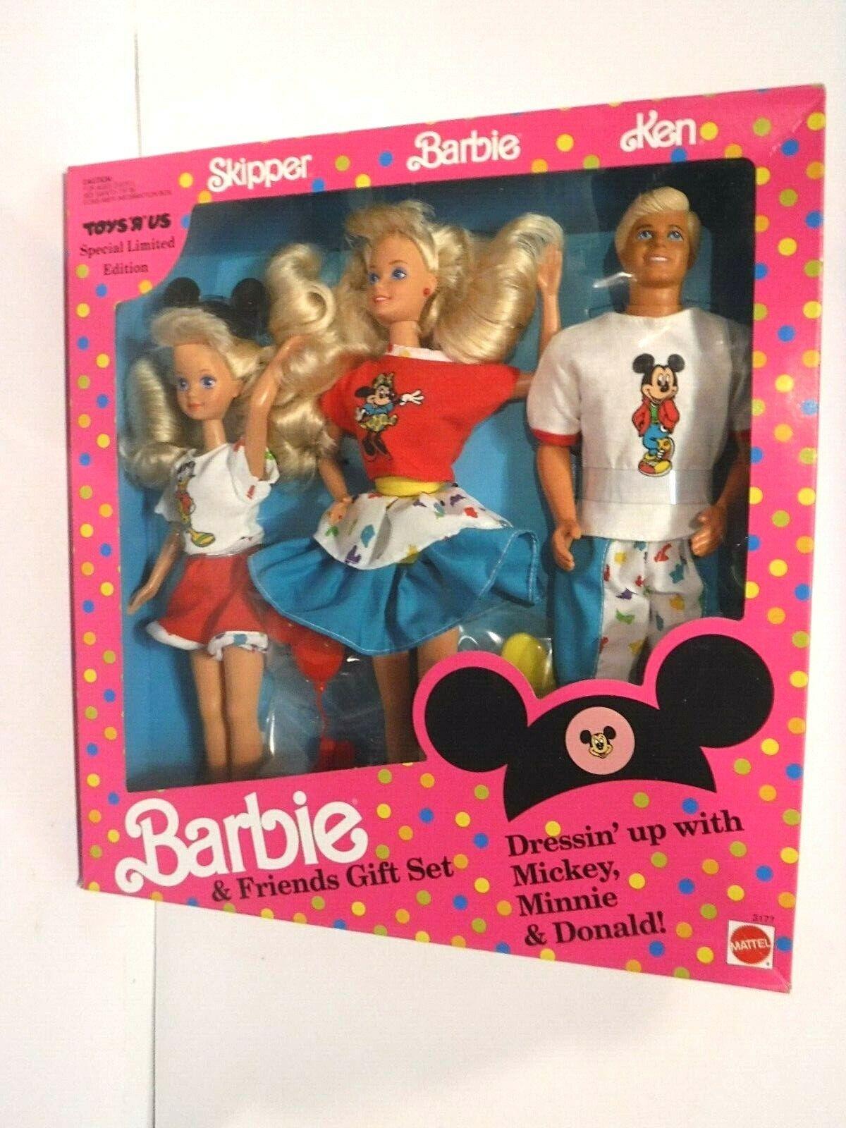 NEW BARBIE AND freunde Geschenk SET BARBIE-SpielzeugS 'R US speziell LTD. EDIT -1991-MNRFB
