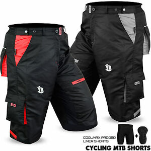 MTB-Cycling-Short-Off-Road-Cycle-Bicycle-CoolMax-Padded-Liner-Shorts-All-Sizes